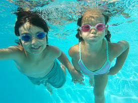 Кадрирование лица под водой